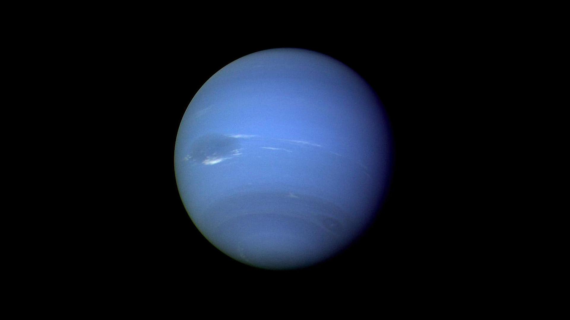 蔚蓝色的海王星 (© NASA/JPL)