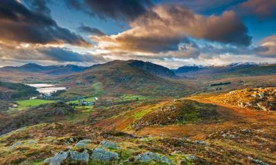 史诺多尼亚国家公园的Capel Curig,英国威尔士