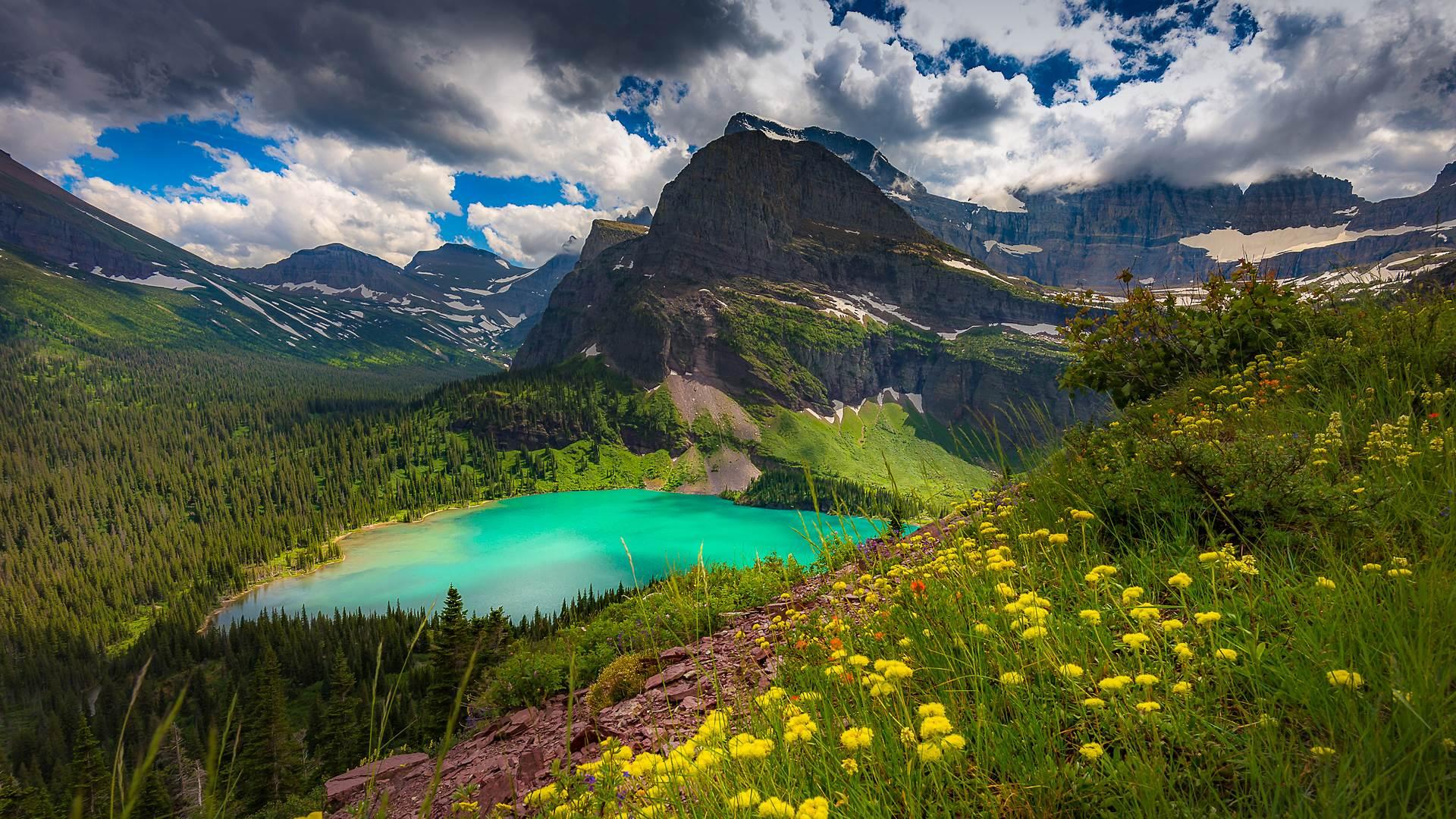格林内尔湖,蒙大拿州冰川国家公园