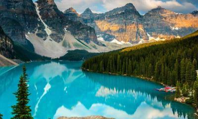 2020.07.01 - 班夫国家公园中莫兰湖的延时视频,加拿大艾伯塔省
