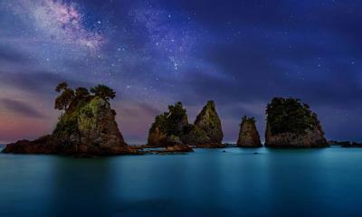 2021.07.22 - 伊豆半岛海岸附近的 Minokake-Iwa 奇岩群,日本