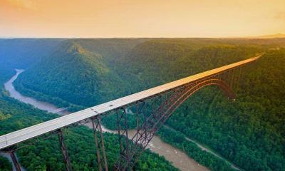 2021.04.17 - 新河峡国家公园中的新河峡大桥,西弗吉尼亚州