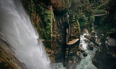 巴尼奥斯附近的阿格杨瀑布,厄瓜多尔