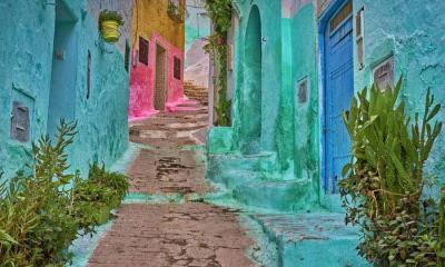 2021.07.19 - 麦地那的彩色小巷, 摩洛哥得土安市