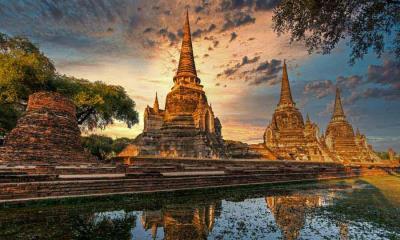 2021.04.13 - 大城历史公园中的帕喜善佩寺,泰国大城府