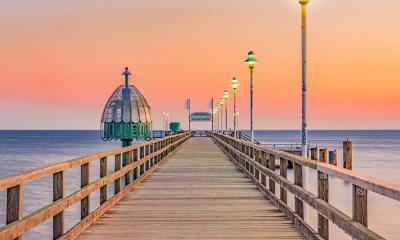 2021.07.18 - Zinnowitz pier on Usedom island in the Baltic Sea, Germany